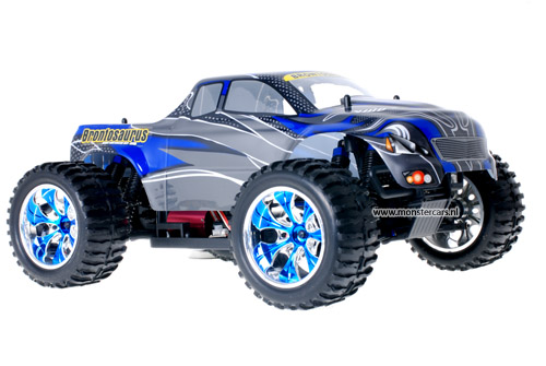 Himoto Brushless Truck Blue Carbon 2.4GHz AANBIEDING!